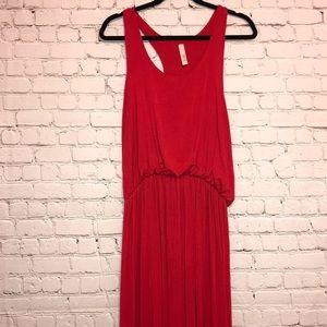 Jolie Red T-Back Sleeveless Maxi Dress